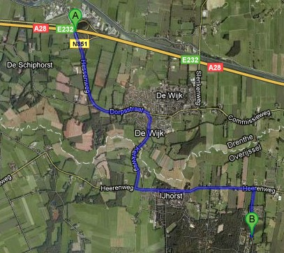route ijhorst